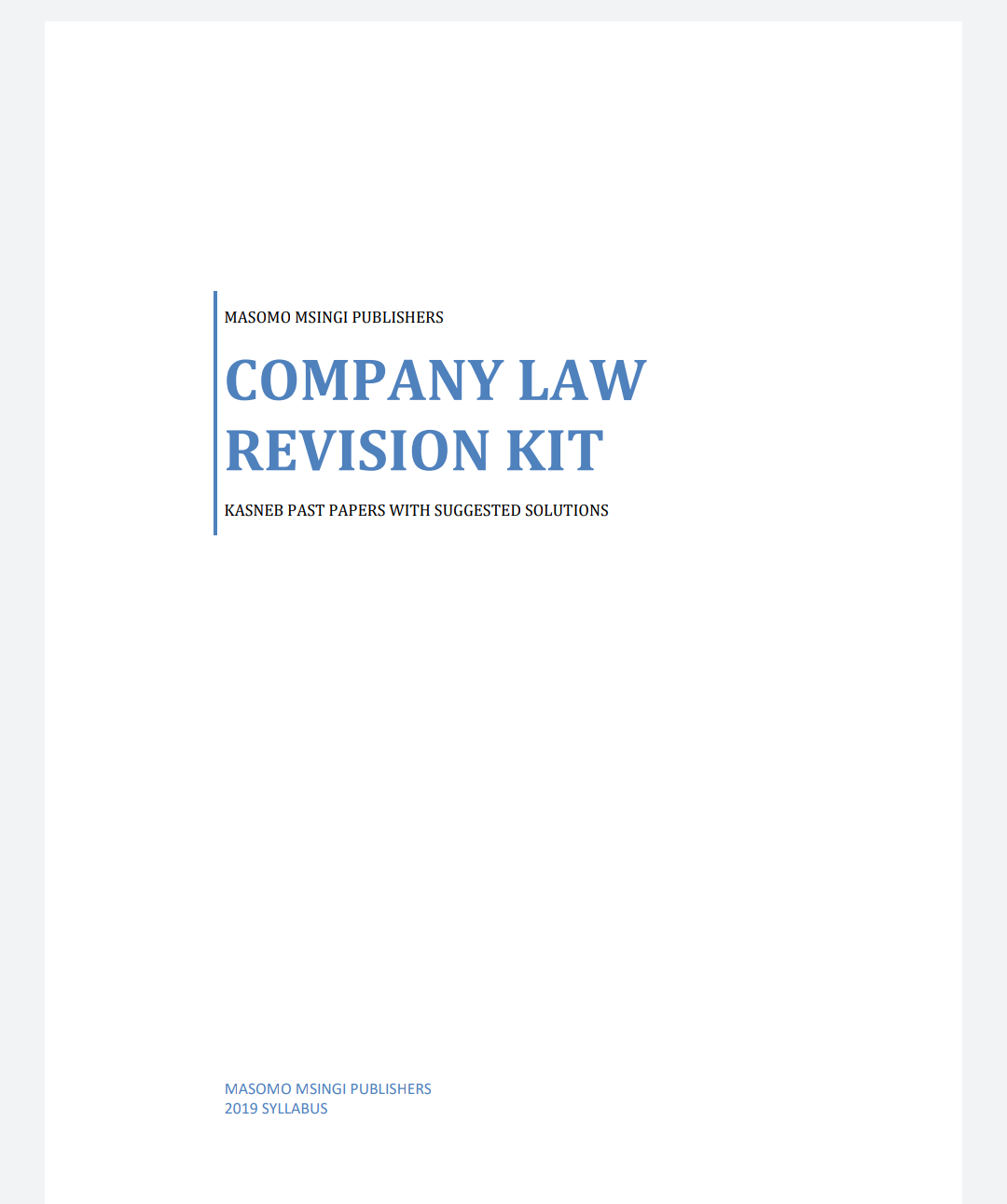 COMPANY LAW QUESTION AND ANSWER